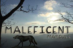 Maleficent Marquee Menacing Typeface