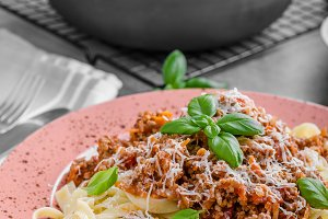 Pasta bolognese delish food