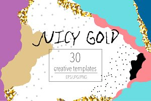 Juicy Gold creative templates