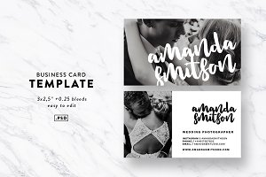 Typography Business Card Template