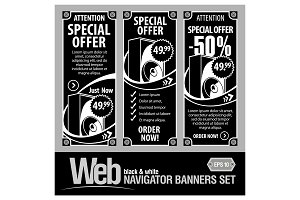 Special Offer Banner Set Vector