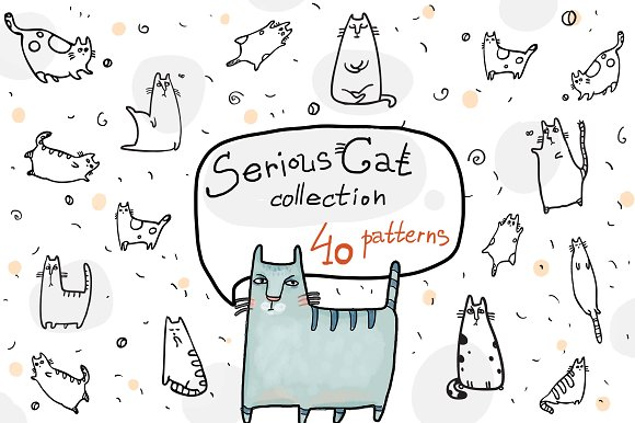 Serious Cat Collection 40 Patterns