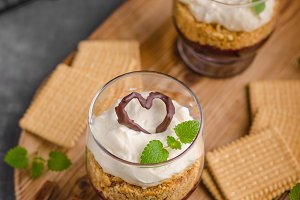 Cheesecake in glass