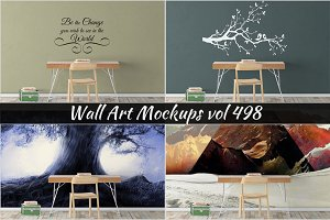 Wall Mockup - Sticker Mockup Vol 498