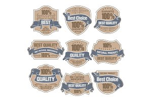 Set of Best Quality Label