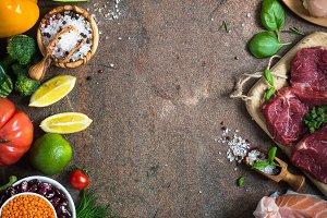 Organic food, healthy nutrition