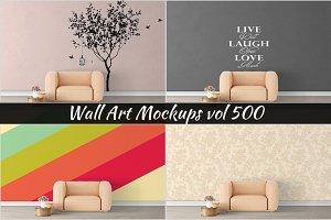 Wall Mockup - Sticker Mockup Vol 500
