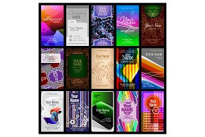 15 vertical business cards