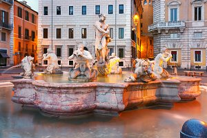 Piazza Navona Square in the morning, Rome, Italy.