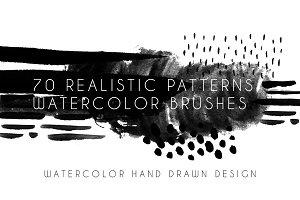 70 Patterns Watercolor Brushes