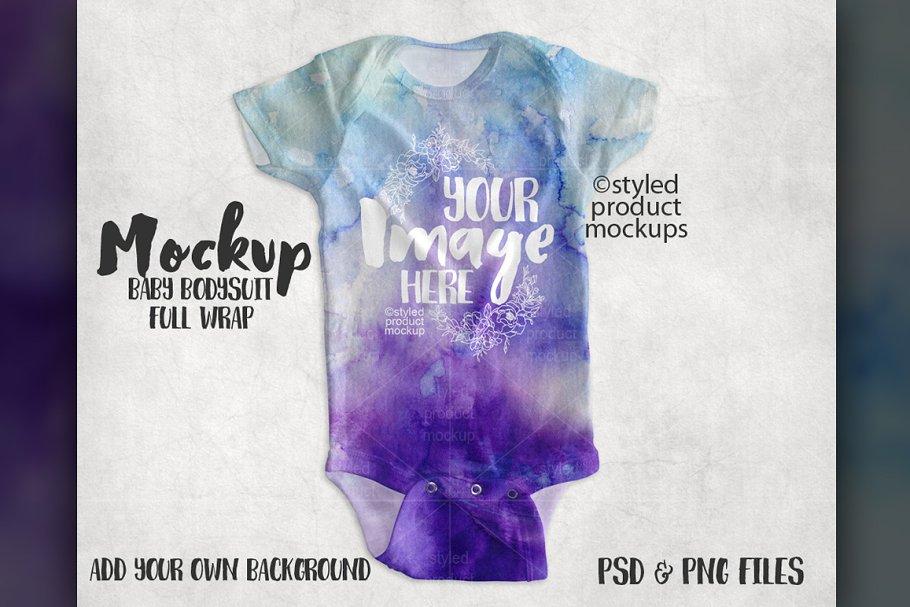 Baby Bodysuit Mockup ~ Product Mockups ~ Creative Market 55d4bcb2e