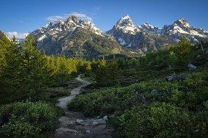 Hiking Trail to Mountain Peaks