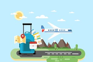 Air travel. Vector illustration