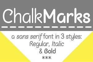 Chalk Marks | a sans-serif font
