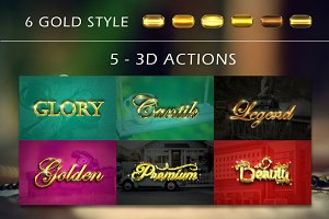 3D Gold Sparkling Text Effect V02