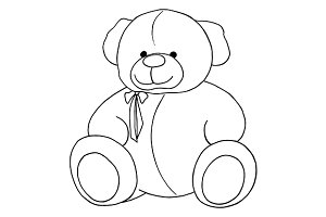 Cartoon Teddy Bear sketch vector