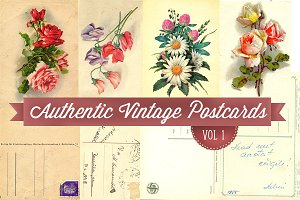 Authentic Vintage Postcards v.1