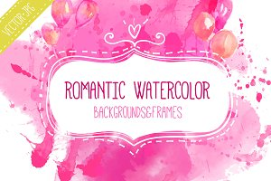 Romantic watercolor backgrounds