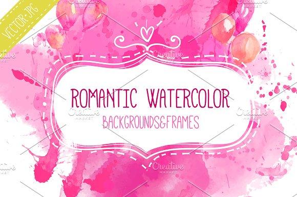 Romantic watercolor backgrounds