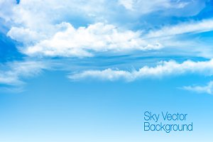 Vector blue sky background