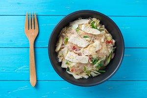 Thai pork sausage salad