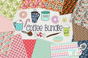 Coffee Pattern & Illustration Bundle