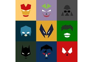 Masks into flat style vector graphics art