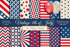 Retro Fourth of July