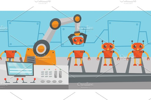 Robotic Production Line For Assembly Of Toys