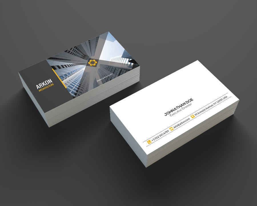 architecture business card se0207 business card templates creative market - Architect Business Card