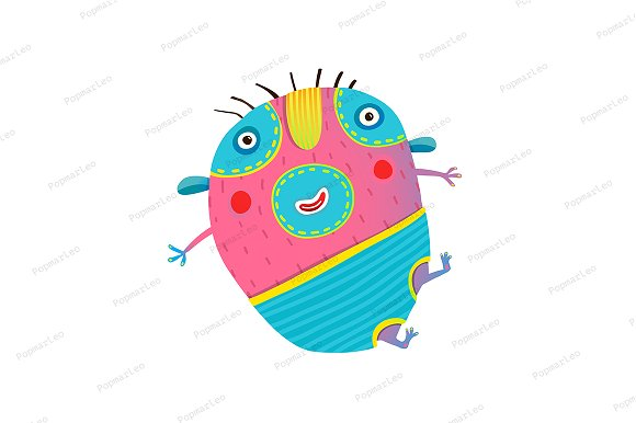 Funny Kids Monster Jumping Creature
