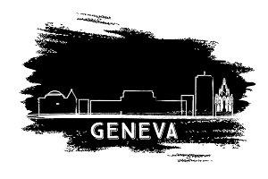 Geneva Skyline Silhouette.