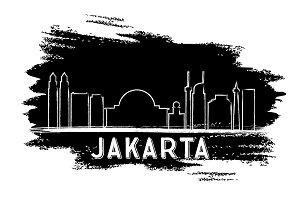 Jakarta Skyline Silhouette.