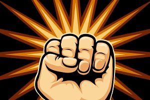 Raised Fist Symbol