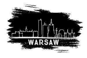 Warsaw Skyline Silhouette.