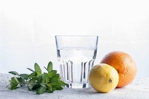 Indredients for portion lemonade