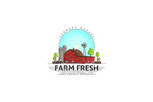 Farm fresh logo template