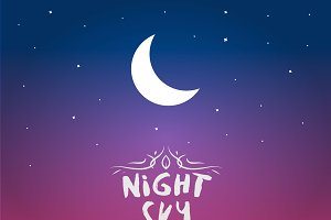 Night Sky Vector Background
