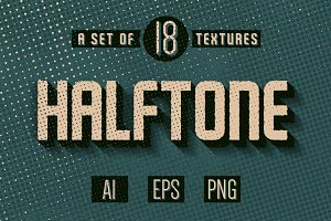 Set of 18 Halftone textures