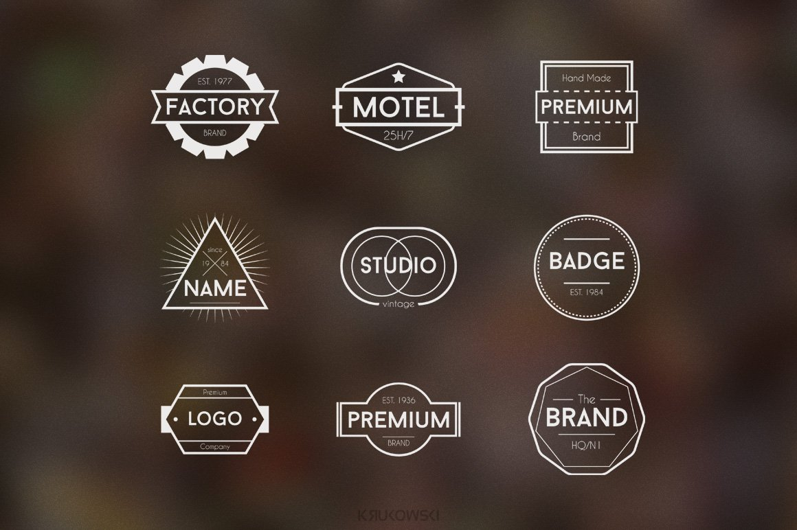 Simple Badge Logos ~ Logo Templates ~ Creative Market