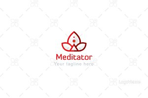 Meditator- Yog Figure Stock Logo