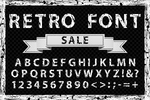 Grunge ink vector font