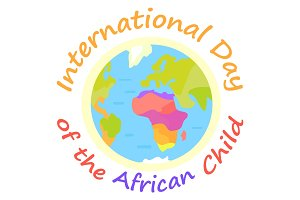 International Day of African Child Holiday Poster