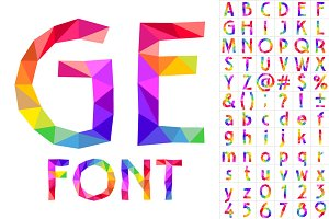 Colorful font of patches