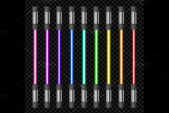 Vector Neon Tube Light Pack Isolated
