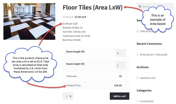 WooCommerce Measurement Caclculator