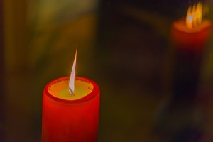 Red Candle Light