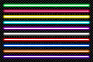 Vector neon light pack isolated