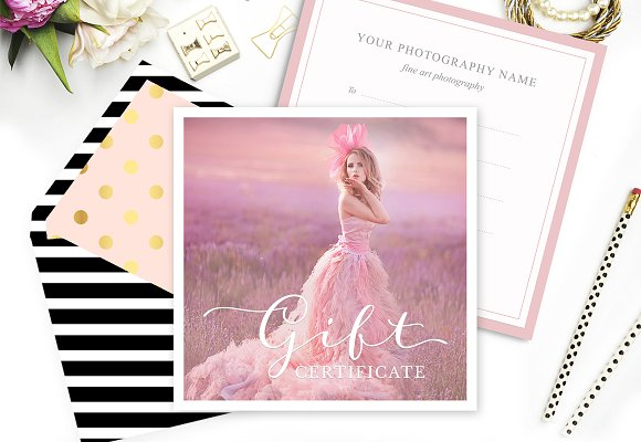Gift Card Template for Photographers ~ Card Templates ~ Creative Market