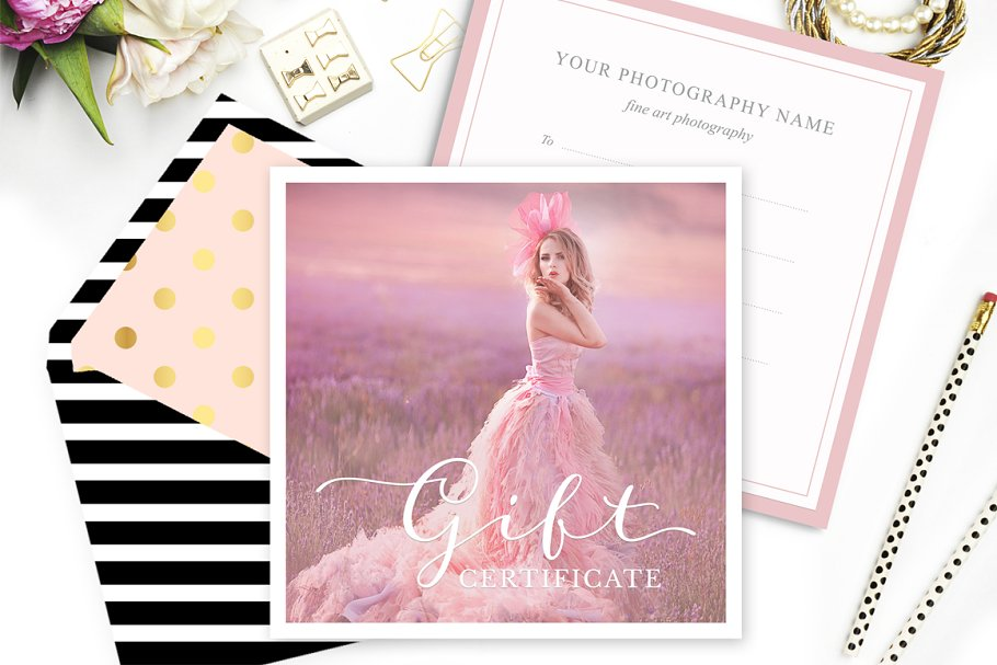 Gift Card Template For Photographers Card Templates Creative Market